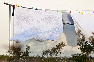 Clothes on a line - p6990109 by Sonja Speck