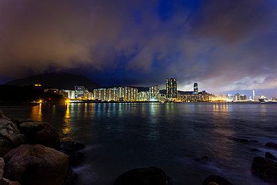 Taikoo Shing nightscape - p1558m2132797 by Luca Casonato