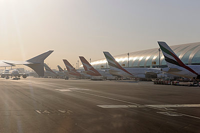Dubai Airport Emirates Airlines Airbus A380 - p1048m1107178 by Mark Wagner