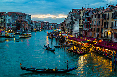 Italy, Venice, Canale Grande at dusk - p300m981265f by EJW