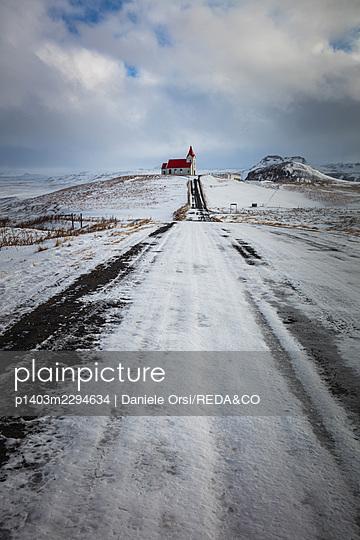 Ingjaldsholl Church. Iceland. North Atlantic Ocean - p1403m2294634 by Daniele Orsi/REDA&CO