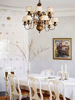 A dining-room in a manor house Sweden. - p31221978f by Lena Granefelt
