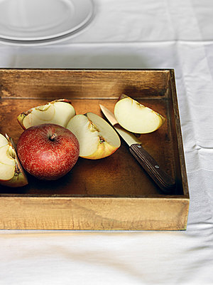 Fresh apples - p1052m882350 by Wolfgang Ludwig