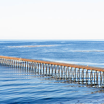 A pier in Goleta, California. - p343m1554643 by Ron Koeberer