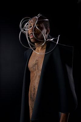 Naked african man - p1554m2223500 by Tina Gutierrez