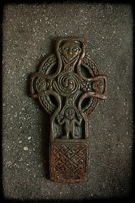 Reproduction of the Gallen Priory Celtic Cross from County Ottaly - p1028m1034637 by Jean Marmeisse