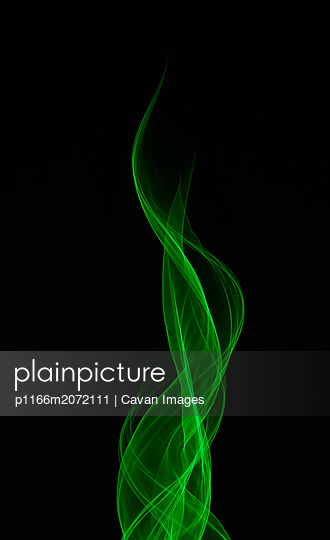 Ethereal Green Fire Laser Light Trail - p1166m2072111 by Cavan Images