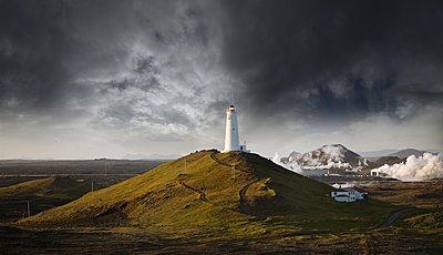 Reykjanesviti Lighthouse in Iceland - p1084m1036861 by GUSK