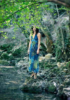 Woman in nature - p577m716314 by Mihaela Ninic