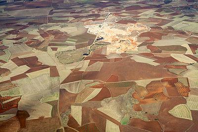 Felder, Luftbild - p977m2044456 von Sandrine Pic