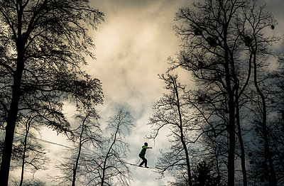 Highlining in southern Bavaria - p1424m1501024 by Nicolas Armer