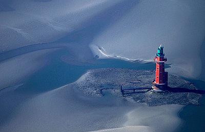 Leuchtturm Hohe Weg; Wesermündeung - p1016m741971 von Jochen Knobloch
