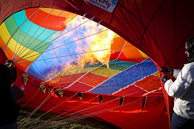 The Albuquerque International Balloon Fiesta draws spectators from around the world.  - p343m958149 by Jeremy Wade Shockley