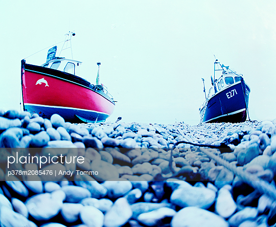 fishing boats - p378m2085476 by Andy Tommo