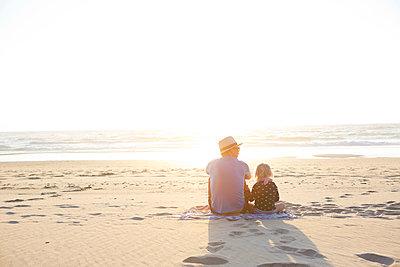 Evening sun at the Beach - p441m1200784 by Maria Dorner