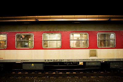 Train carriages - p8474469 by Erika Stenlund