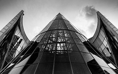 High rise with glass front - p1445m2124826 by Eugenia Kyriakopoulou