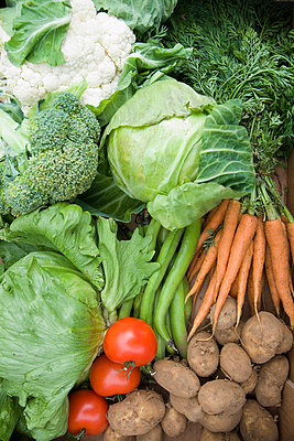 A selection of fresh vegetables - p42911274f by Ashley Jouhar