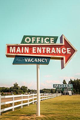 American 60's Era roadside Motel - p1019m2111187 by Stephen Carroll