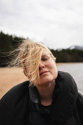 Blond woman - p1477m2038878 by rainandsalt