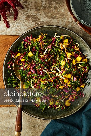 Fresh salad - p1640m2261113 by Holly & John