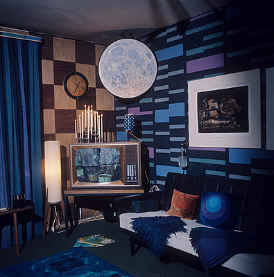 Wohnzimmer in blau - p8990020 von Celluloids