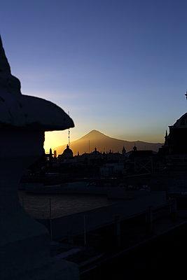 Volcano Popocatepetl at sunset - p1063m1538361 by Ekaterina Vasilyeva