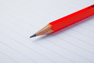 Red pen on paper - p4266188f by Tuomas Marttila