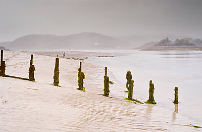Beach Landscape seascape water sand low tide foggy - p609m2066403 by WALSH photography