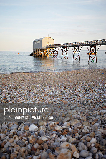 Pier with boat shed III - p464m854713 by Elektrons 08