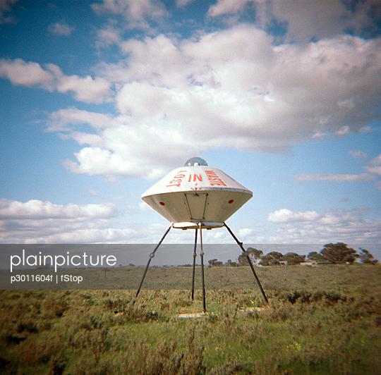 A sculpture of a UFO, Australia