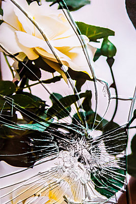 Broken glass - p1149m2280204 by Yvonne Röder