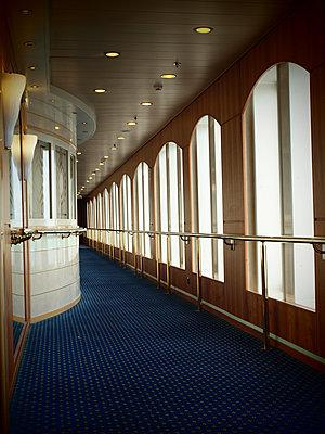 Corridor on ferry boat - p132m1134934 by Peer Hanslik