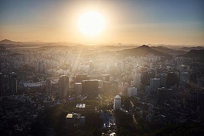 Korea, View over Seoul - p1492m2178690 by Leopold Fiala