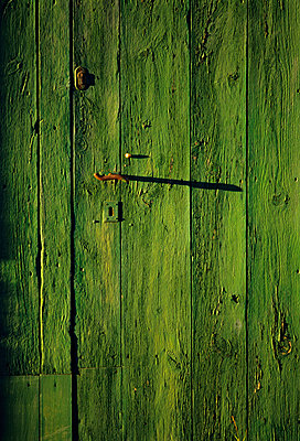 Green door - p8850168 by Oliver Brenneisen