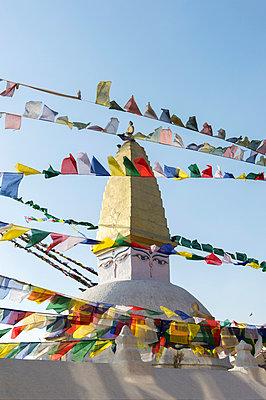 Stupa in the district Bodnath of Kathmandu - p949m948555 by Frauke Schumann