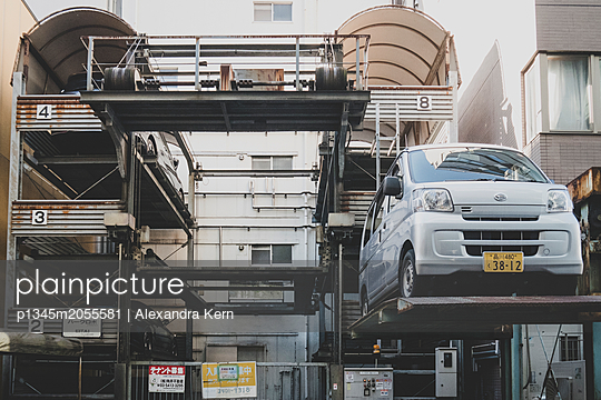 Parking area in Tokio - p1345m2055581 by Alexandra Kern