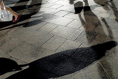 Pedestrian shadows - p1125m917357 by jonlove
