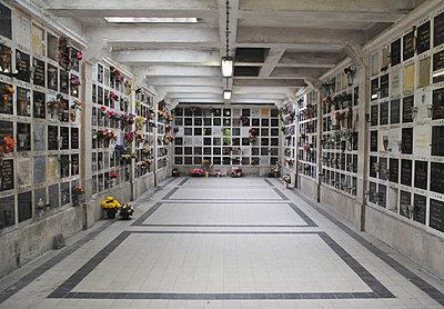 France, Paris, Père Lachaise Cemetery, Urn graves - p1072m2152921 by Neville Mountford-Hoare