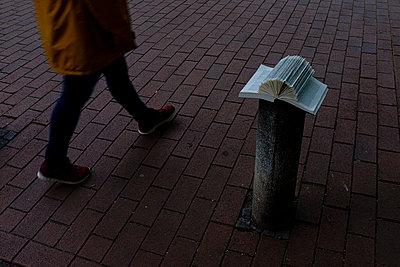 Buch auf Betonpfeiler - p1579m2193155 von Alexander Ziegler