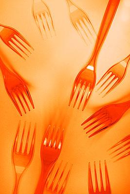 Plastic forks - p450m2258998 by Hanka Steidle