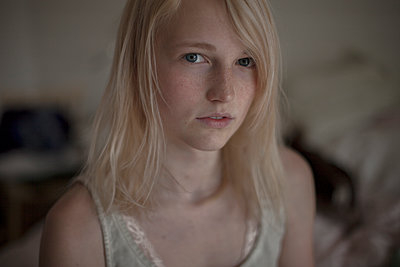 Portrait of girl - p312m1472022 by Christina Strehlow