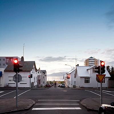Stoplight, downtown Reykjavik  - p1084m1036843 by GUSK