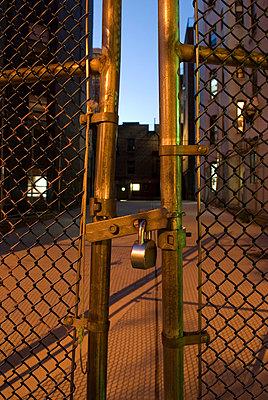 Locked gate - p5690214 by Jeff Spielman