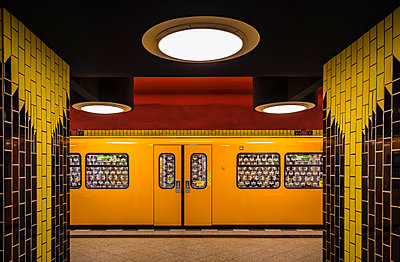 Subway station - p1256m1144168 by Sandra Jordan
