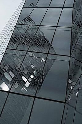 Skyscraper's bent reflections - p301m960771f by Michael Mann