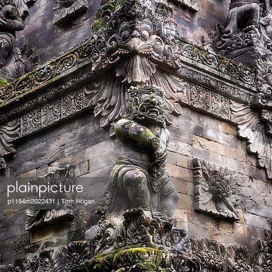 Temple Carvings - p1154m2022431 by Tom Hogan