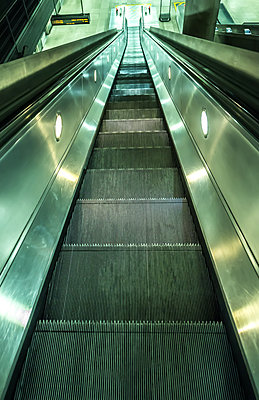 Subway Escalator - p1390m1510450 by Svetlana Sewell