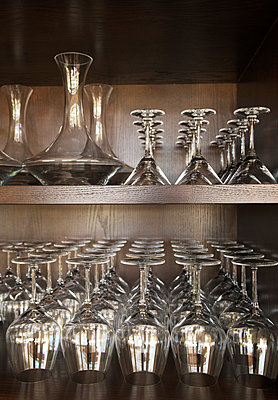 Shelf with wine glasses - p8850001 by Oliver Brenneisen
