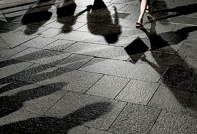 Pedestrian shadows - p1125m917359 by jonlove